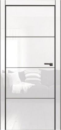 Межкомнатные ламинированные белые скрытые невидимые тайные двери без наличника скрытые с зеркалом ТМ Омега (Украина) Galaxy, Киев. Цена - 6 719 грн