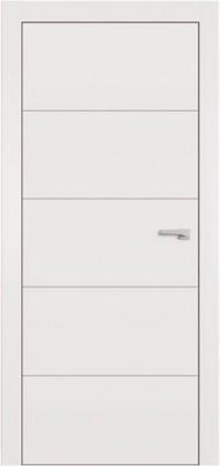 Межкомнатные белые скрытые скрытые крашенные скрытые тайные крашенные двери грунтованные скрытые под покраску без наличника скрытые с отделкой скрытые с зеркалом ТМ Омега (Украина) Lines F5, Киев. Цена - 3 147 грн