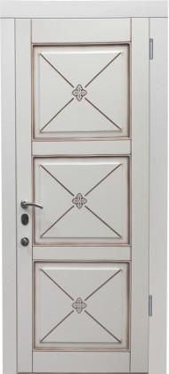 Входные бронированные уличные белые входные двери в квартиру в дом Armada (Украина) А14.17, Киев. Цена - 17 800 грн