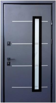 Входные бронированные уличные теплые двери в дом СТРАЖ (Украина) Входные двери Страж Giada E со стеклопакетом, Киев. Цена - 26 850 грн