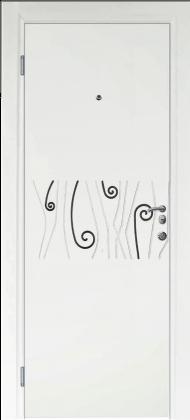 Входные бронированные уличные белые входные двери в квартиру в дом Armada (Украина) Ка103, Киев. Цена - 17 800 грн