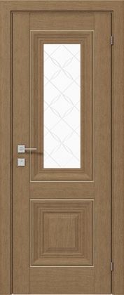 Межкомнатные деревянные ламинированные двери ТМ Родос (Украина) Межкомнатная дверь Versal Esmi, Дуб натуральный, Киев. Цена - 11 499 грн