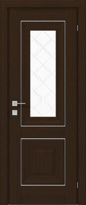Межкомнатные деревянные ламинированные двери ТМ Родос (Украина) Межкомнатная дверь Versal Esmi, Орех борнео, Киев. Цена - 11 499 грн
