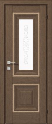 Межкомнатные деревянные ламинированные двери ТМ Родос (Украина) Межкомнатная дверь Versal Esmi, Орех классический, Киев. Цена - 11 499 грн