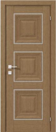 Межкомнатные деревянные ламинированные двери ТМ Родос (Украина) Межкомнатная дверь Versal Irida, Дуб натуральный, Киев. Цена - 7 999 грн