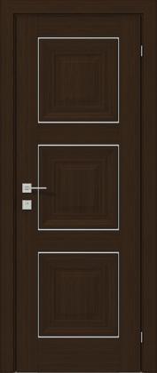 Межкомнатные деревянные ламинированные двери ТМ Родос (Украина) Межкомнатная дверь Versal Irida, Орех борнео, Киев. Цена - 11 499 грн