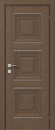 Межкомнатные деревянные ламинированные двери ТМ Родос (Украина) Межкомнатная дверь Versal Irida, Орех классический, Киев. Цена - 11 499 грн