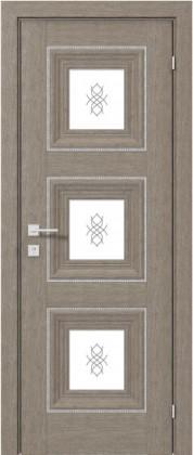 Межкомнатные деревянные ламинированные двери ТМ Родос (Украина) Межкомнатная дверь Versal Irida, Серый дуб, Киев. Цена - 7 999 грн