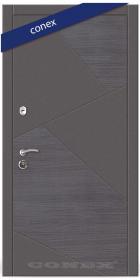 Входная Дверь Conex Модель 76. МДФ. Венге серый горизонт/элегантный серый - Город Дверей