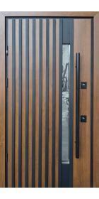 Уличные двери Страж модель Rio-Z Loft Дуб темний