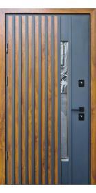 Уличные двери Страж модель Rio-Z Loft Дуб золотой